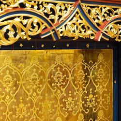 Polimentvergoldung / Altarretabel