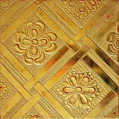 Polimentvergoldung (aufgesetzter Kreidegrund mit Gravierung und gewuggeltem Hintergrund)