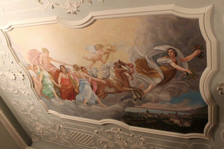 Deckengemälde Villa Raczynski / Marienberg Bregenz -  nach der Restaurierung